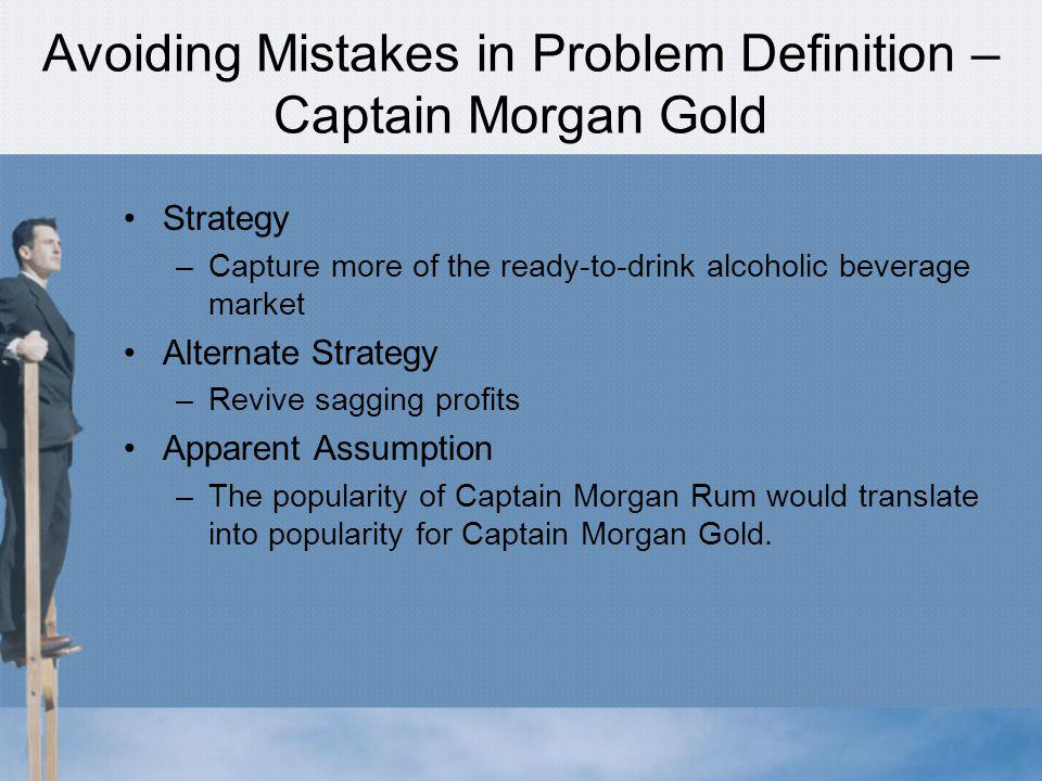 Avoiding Mistakes in Problem Definition – Captain Morgan Gold