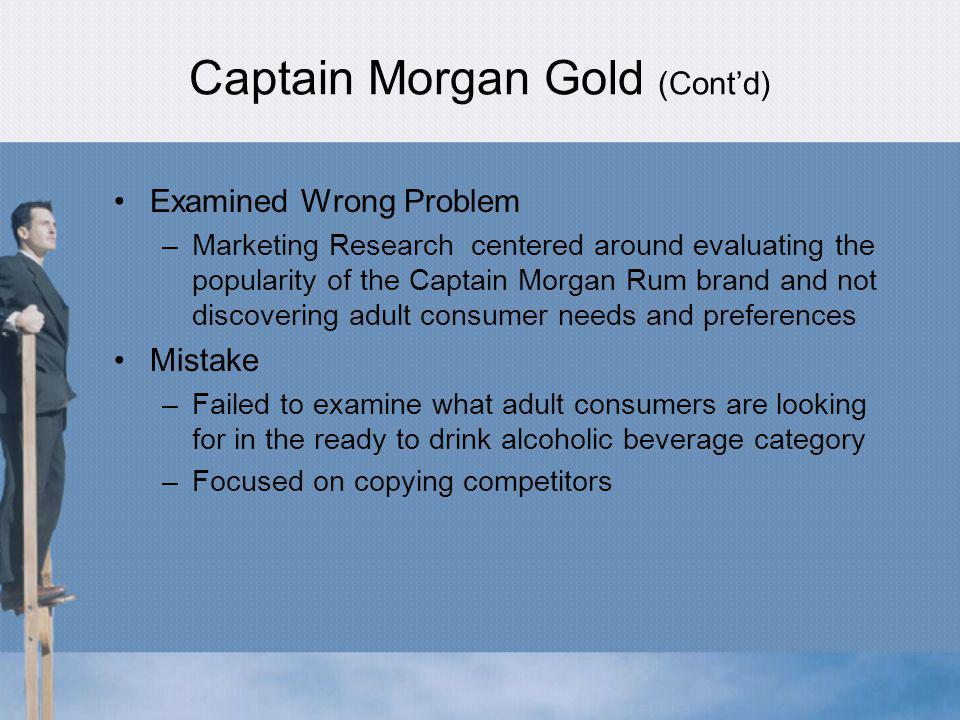 Captain Morgan Gold (Cont'd)