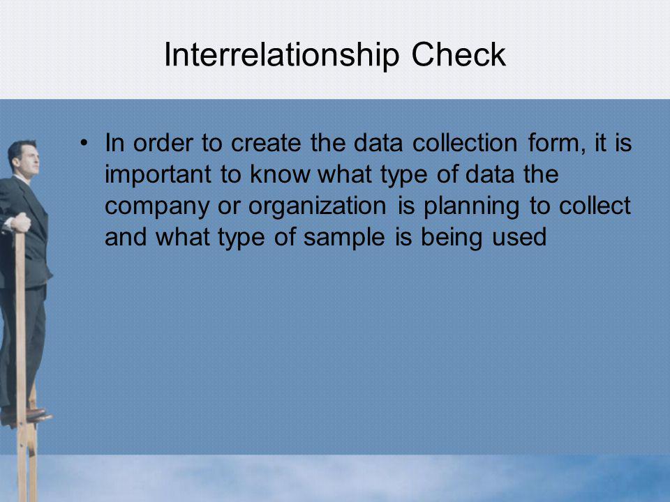 Interrelationship Check