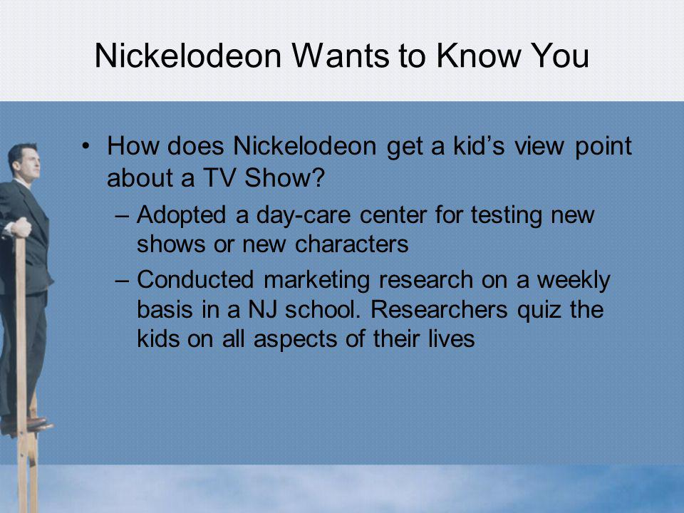 Nickelodeon Wants to Know You