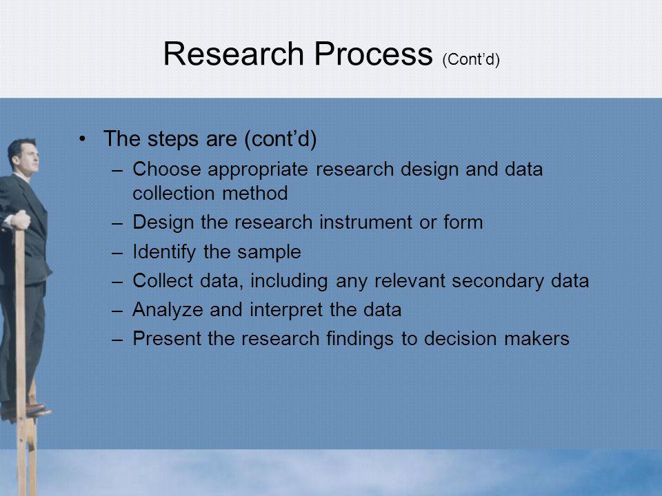 Research Process (Cont'd)