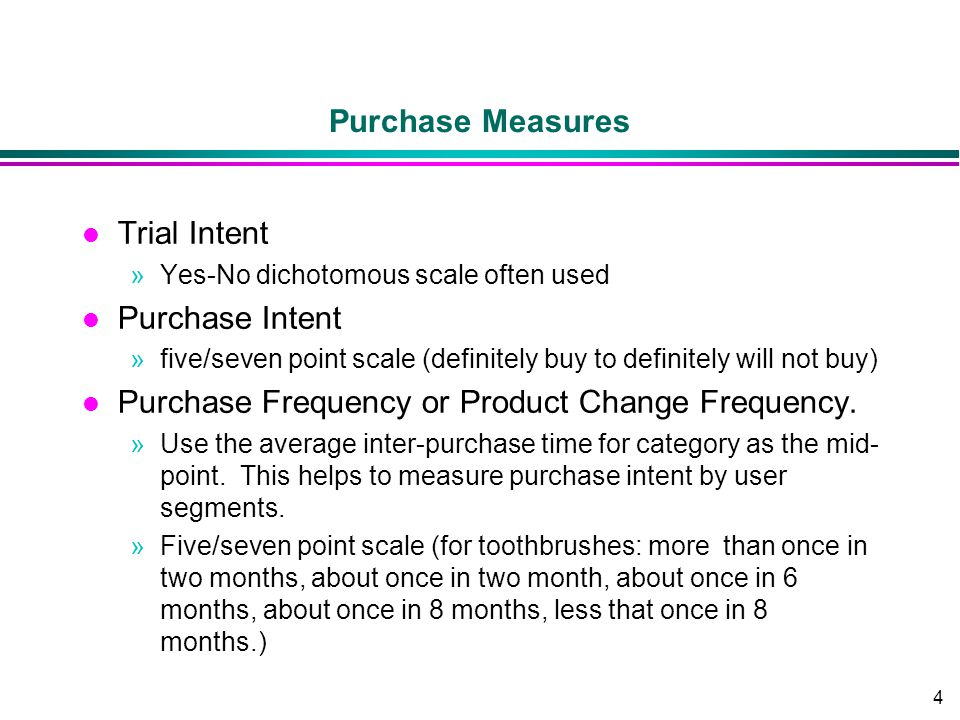Purchase Frequency or Product Change Frequency.
