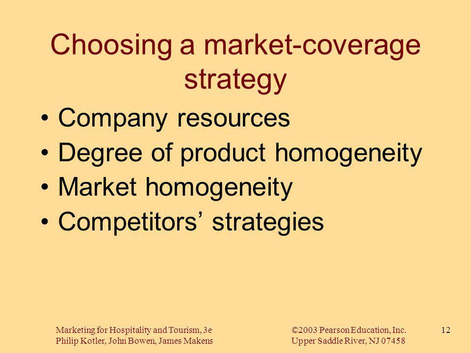 Choosing a market-coverage strategy