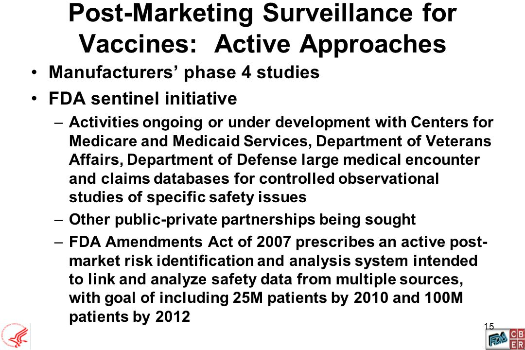 Post-Marketing Surveillance for Vaccines: Active Approaches
