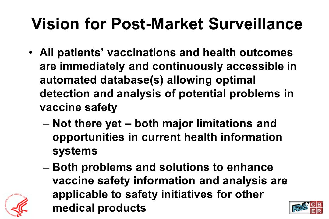 Vision for Post-Market Surveillance