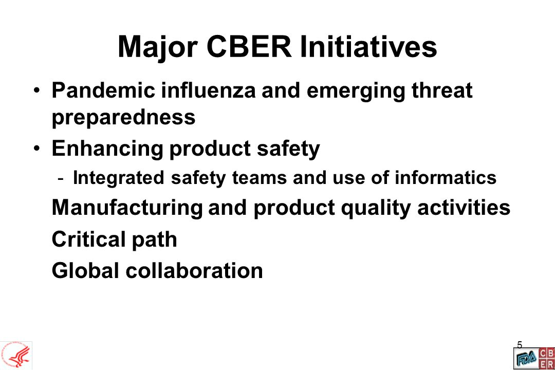 Major CBER Initiatives