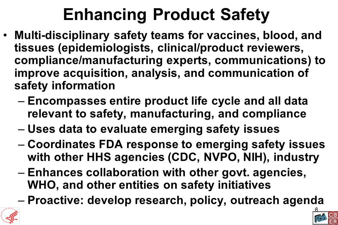Enhancing Product Safety