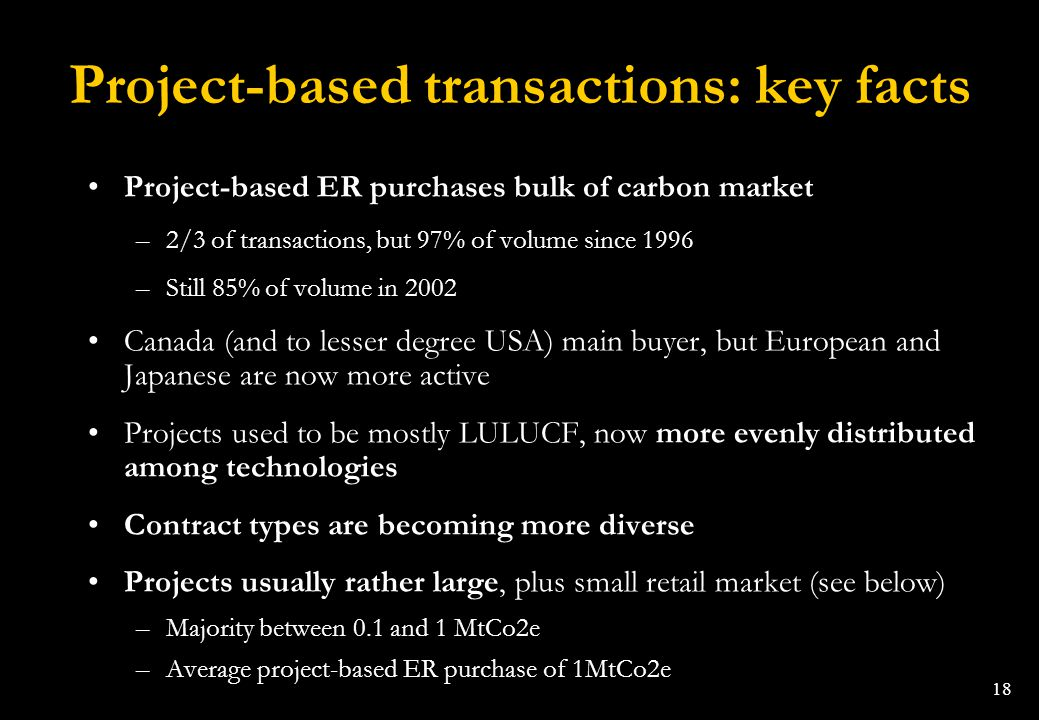 Project-based transactions: key facts