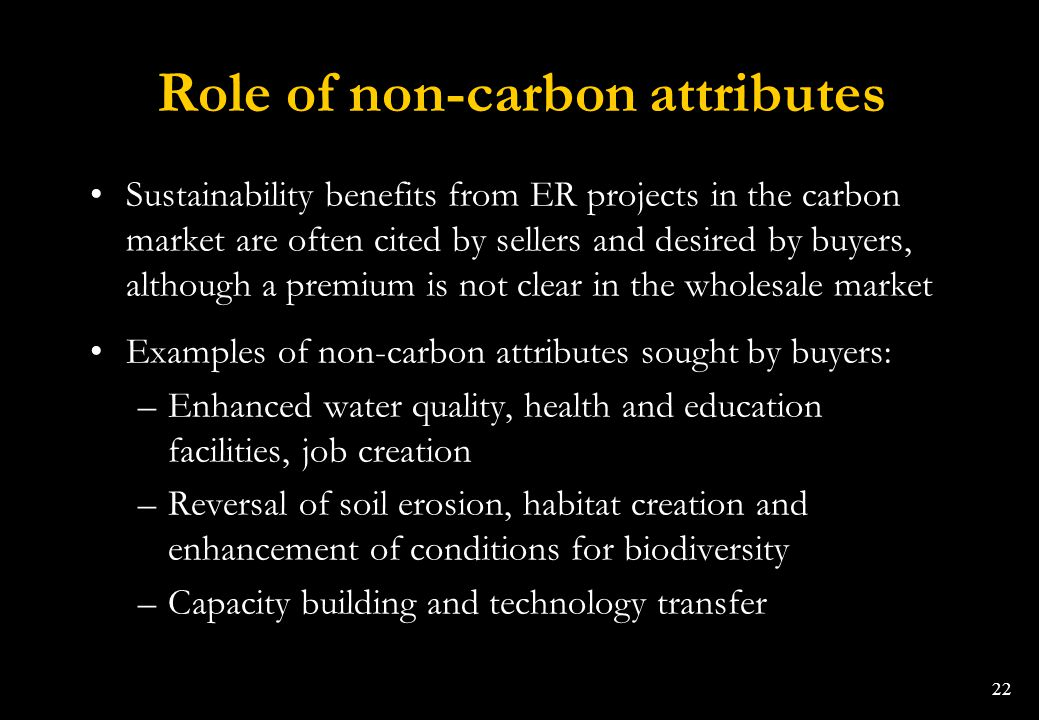 Role of non-carbon attributes