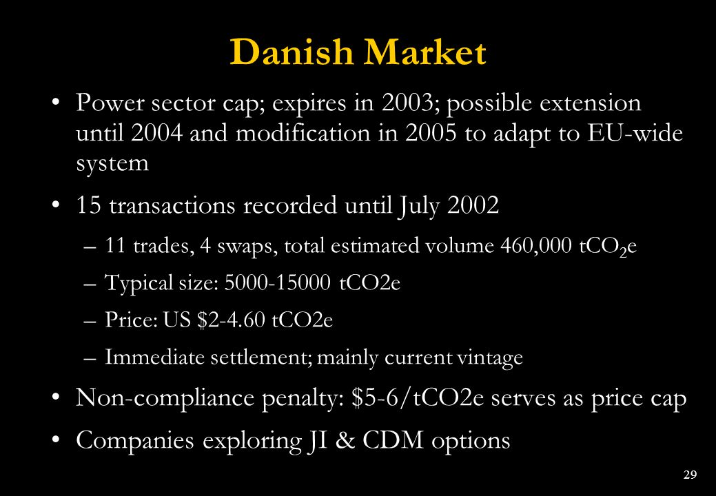 Danish Market Power sector cap; expires in 2003; possible extension until 2004 and modification in 2005 to adapt to EU-wide system.