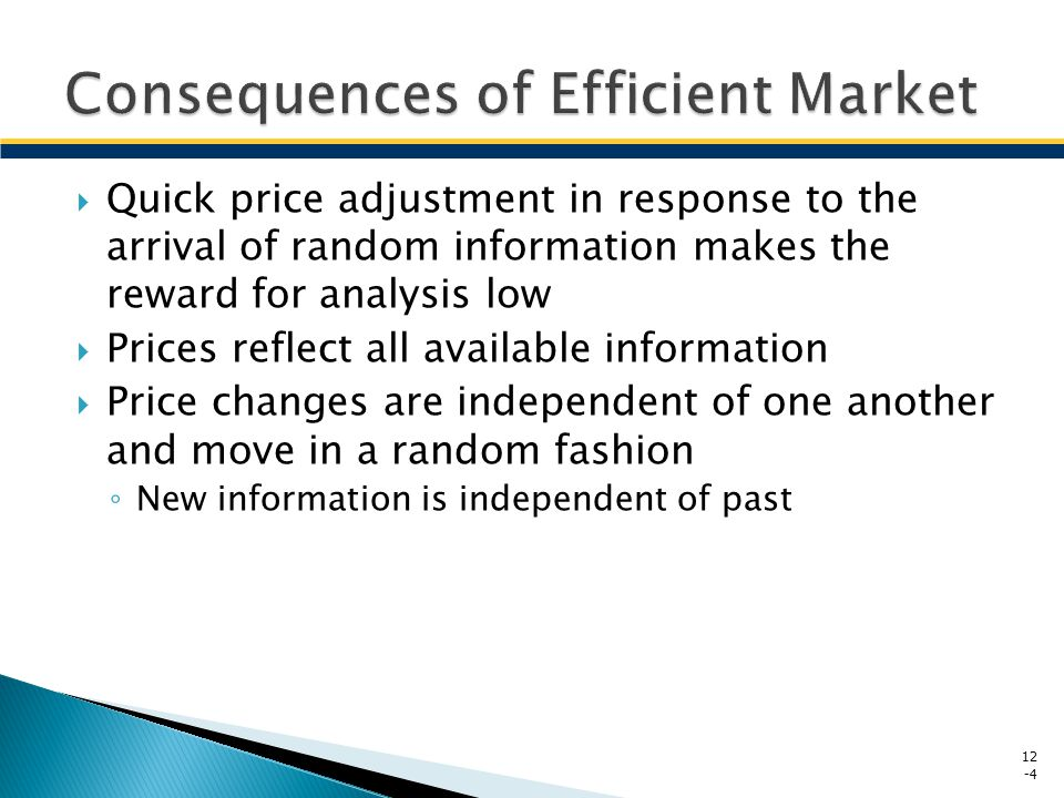 an analysis of the efficient market theory An important debate among stock market investors is whether the market is efficient – that is, whether it reflects all the information made available to market participants at any given time the efficient market hypothesis (emh) maintains that all stocks are perfectly priced according to their.