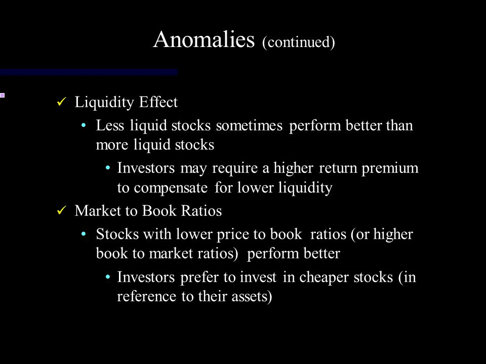 Anomalies (continued)