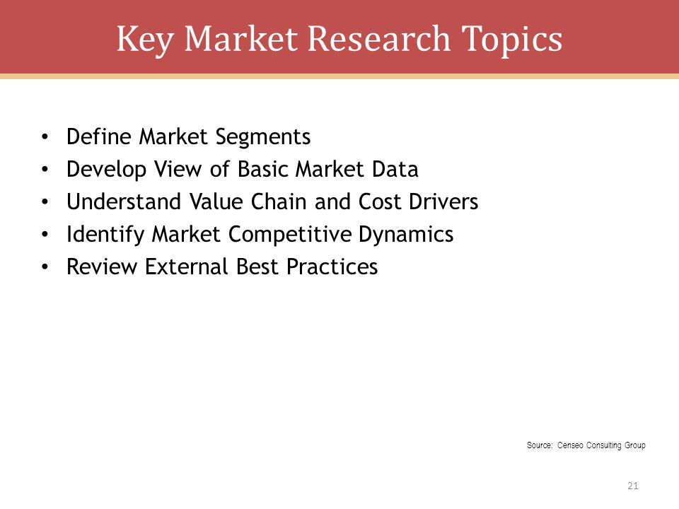Key Market Research Topics