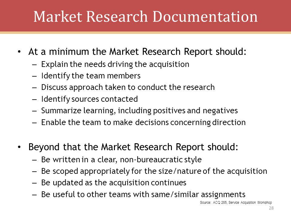 Market Research Documentation