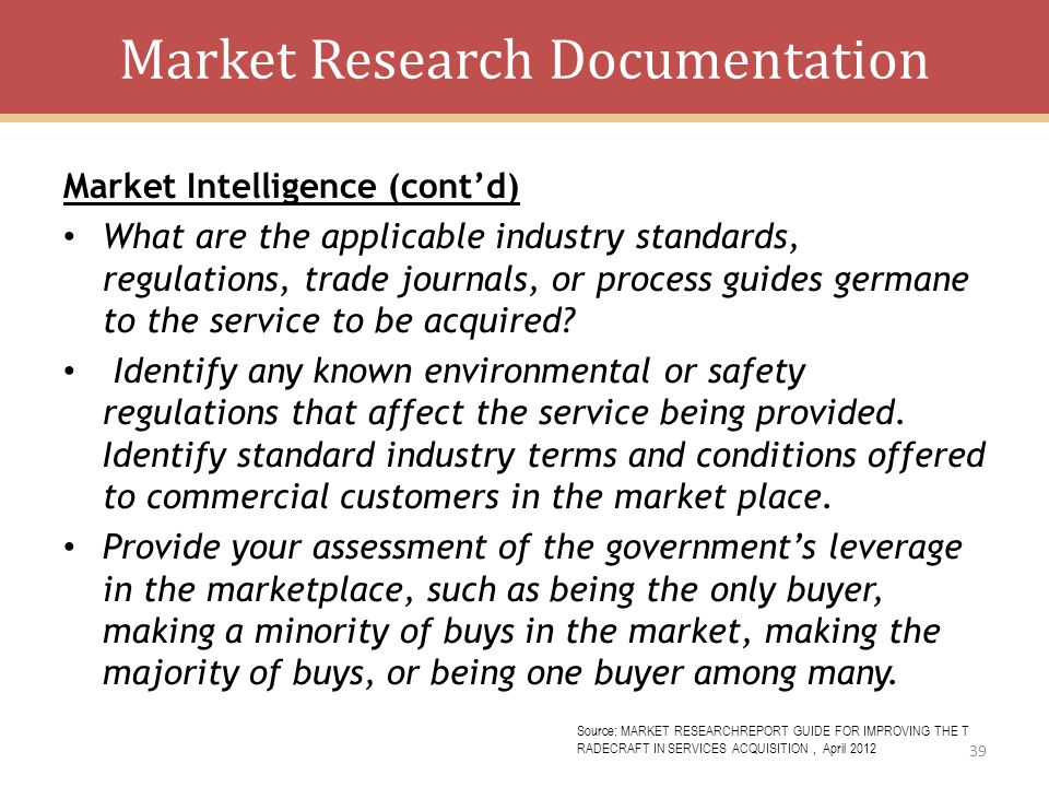Market Research Documentation