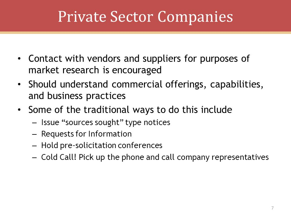 Private Sector Companies