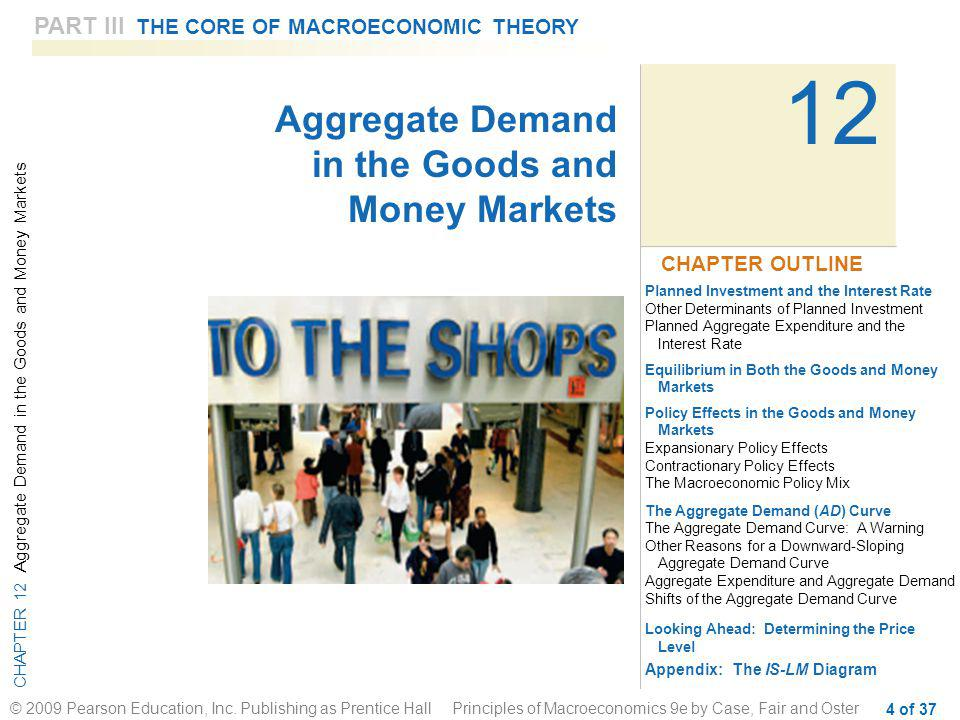 12 11 Aggregate Demand in the Goods and Money Markets
