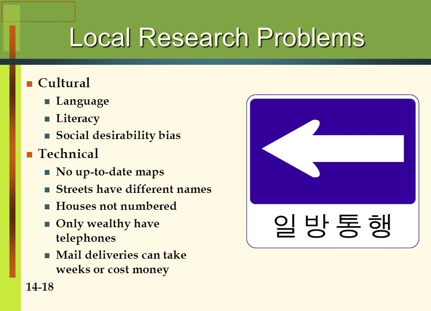 Local Research Problems
