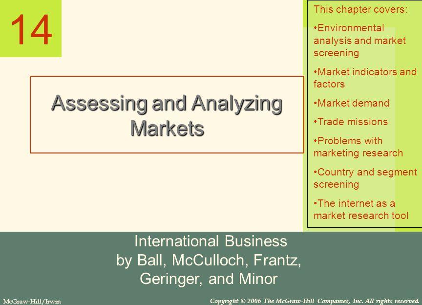 14 Assessing and Analyzing Markets International Business