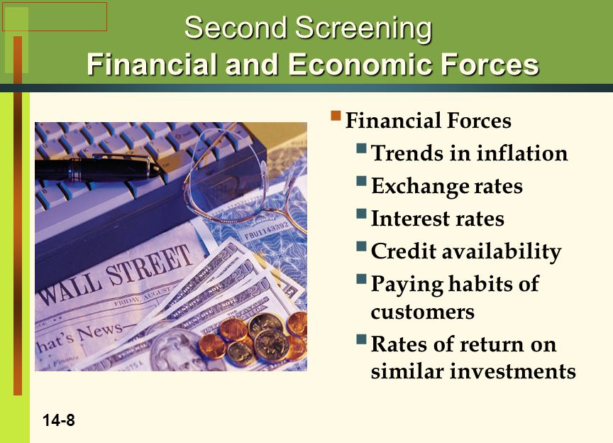 Second Screening Financial and Economic Forces