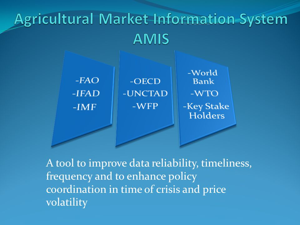 Agricultural Market Information System AMIS