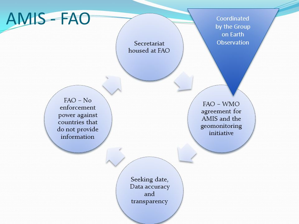 AMIS - FAO Coordinated by the Group on Earth Observation