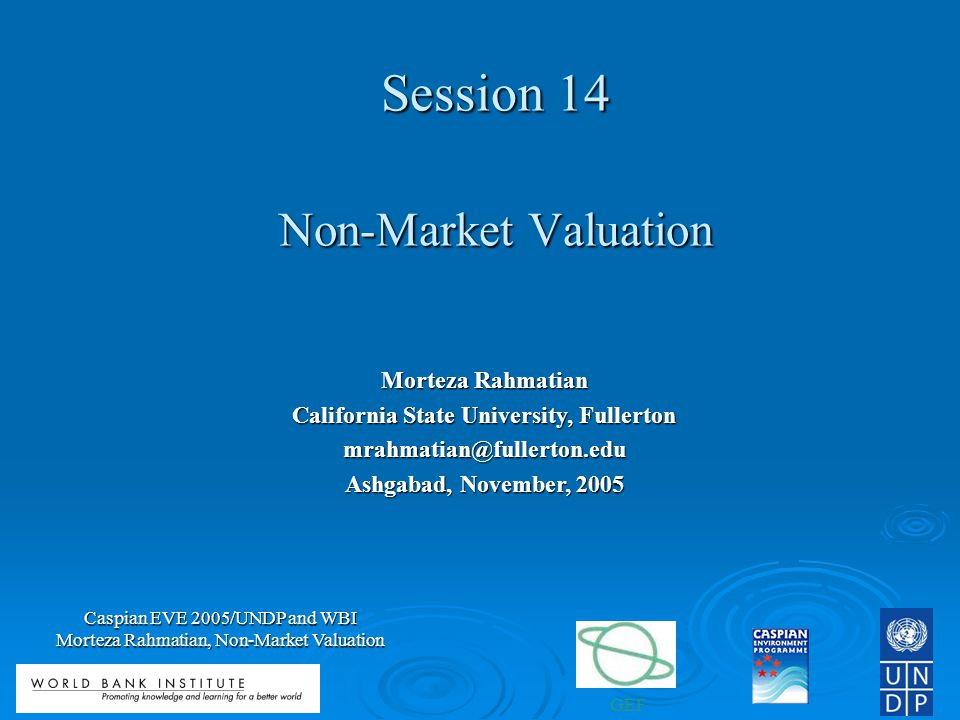 Session 14 Non-Market Valuation