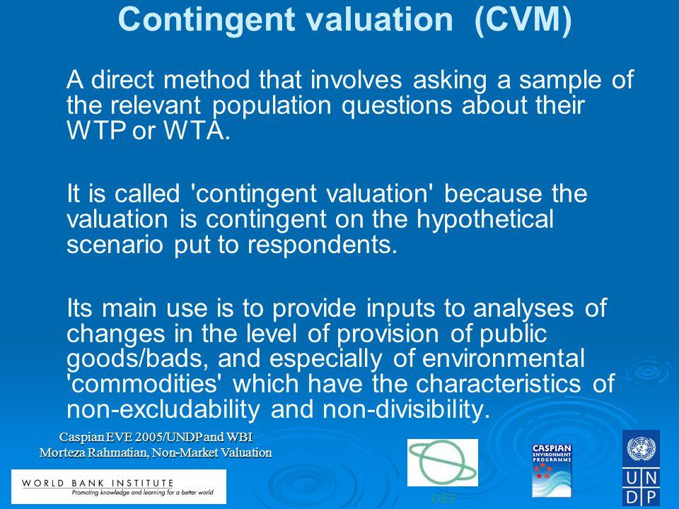 Contingent valuation (CVM)