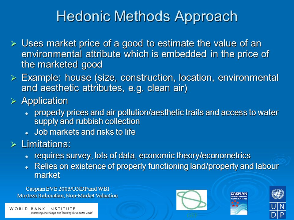Hedonic Methods Approach