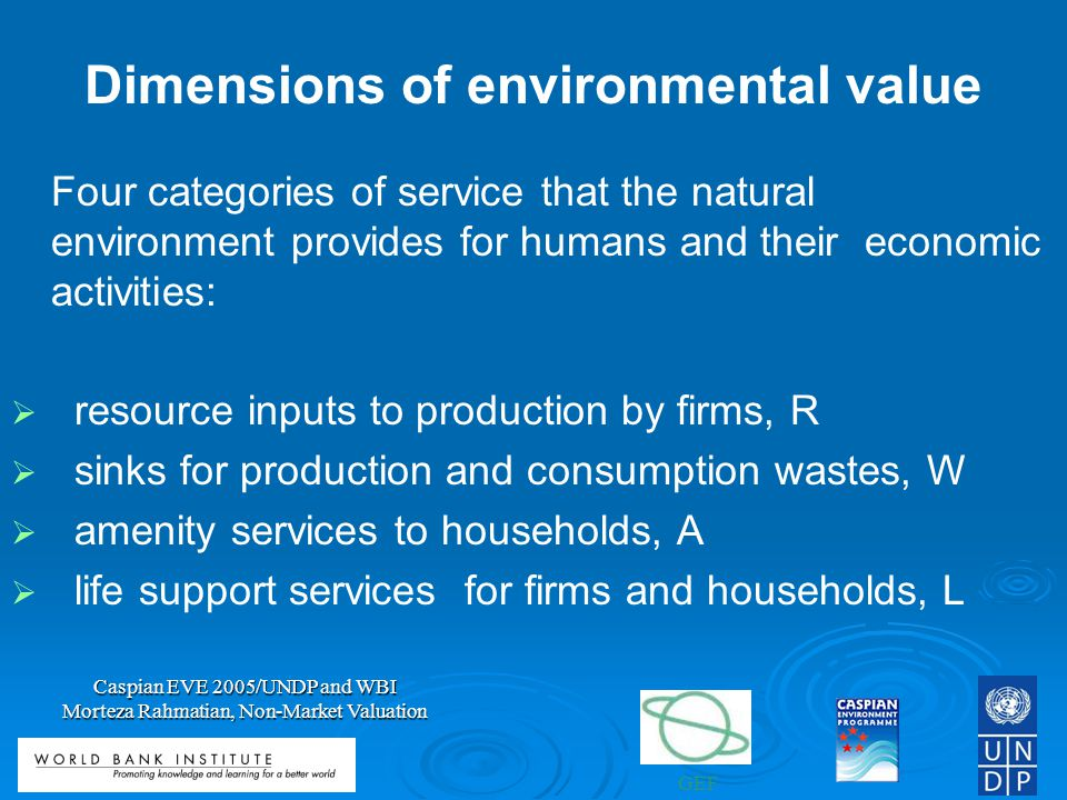Dimensions of environmental value