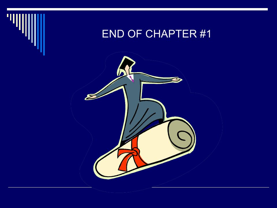 END OF CHAPTER #1 4