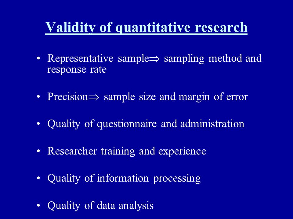 Validity of quantitative research