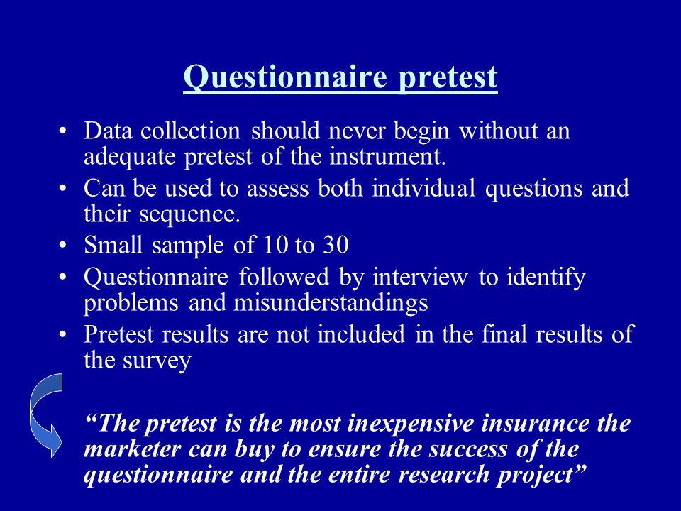 Questionnaire pretest