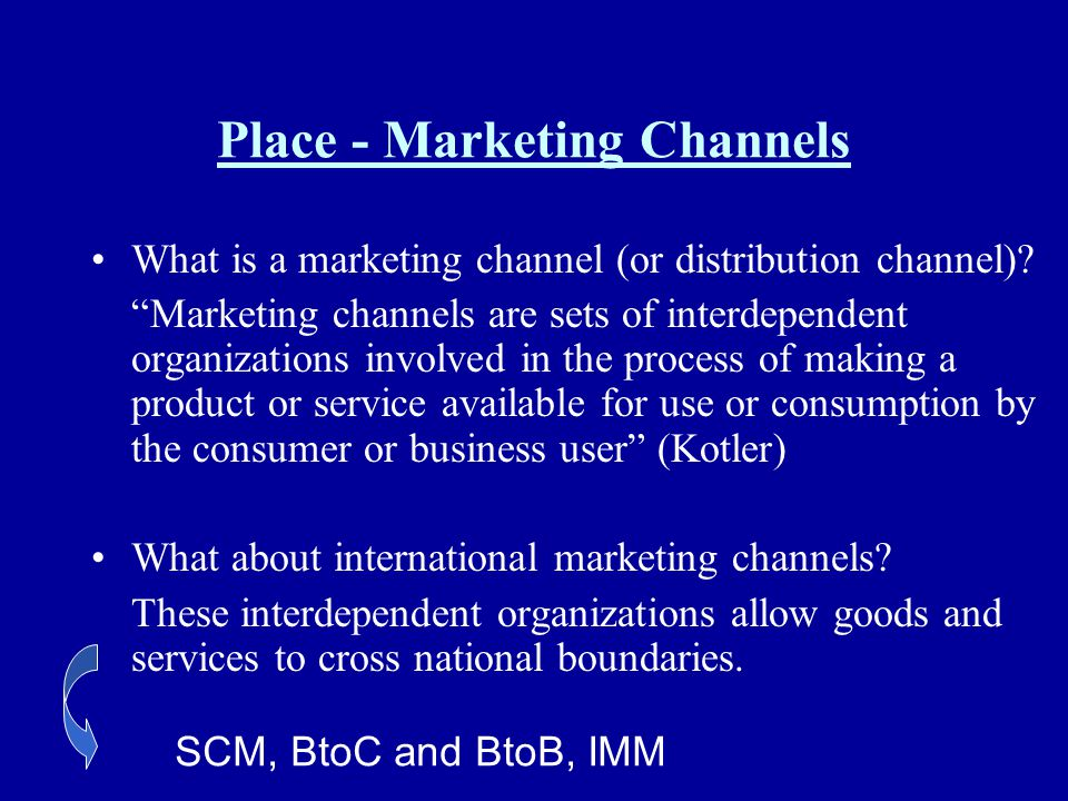Place - Marketing Channels