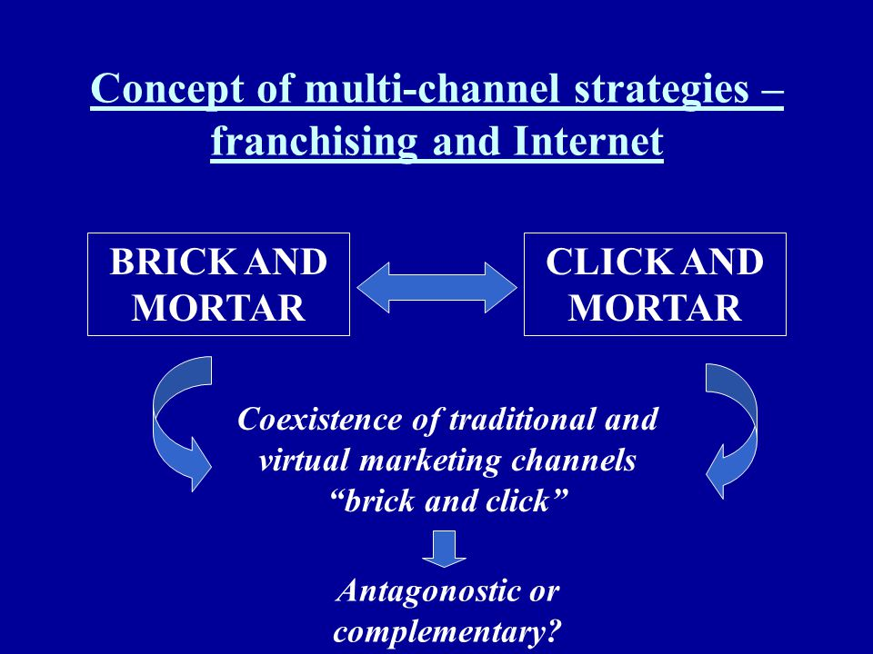 Concept of multi-channel strategies – franchising and Internet