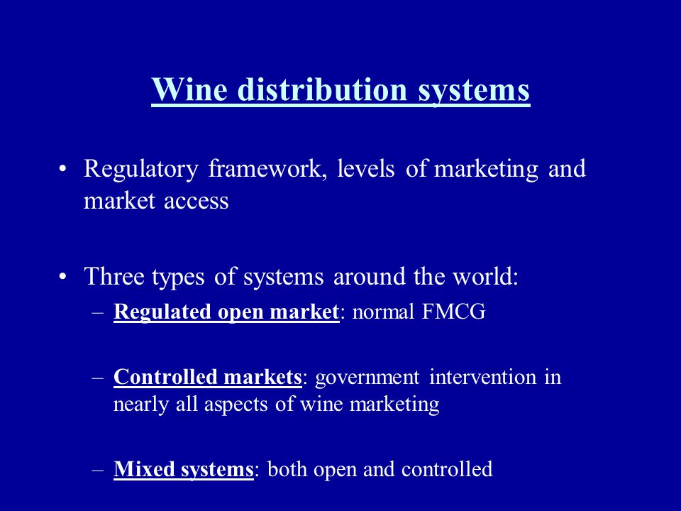 Wine distribution systems