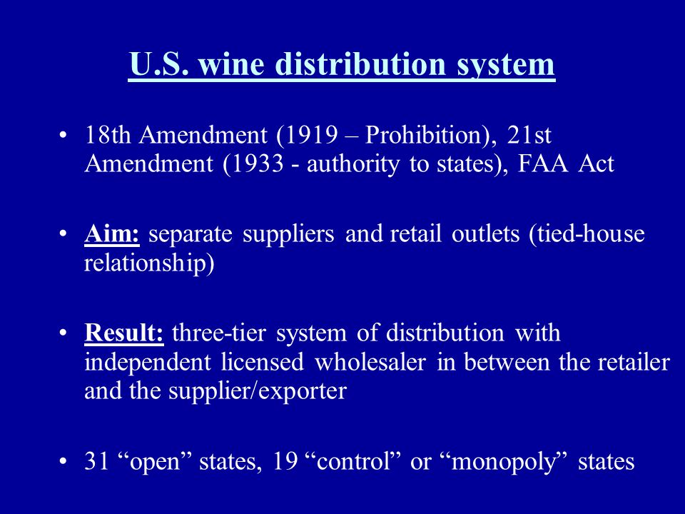 U.S. wine distribution system
