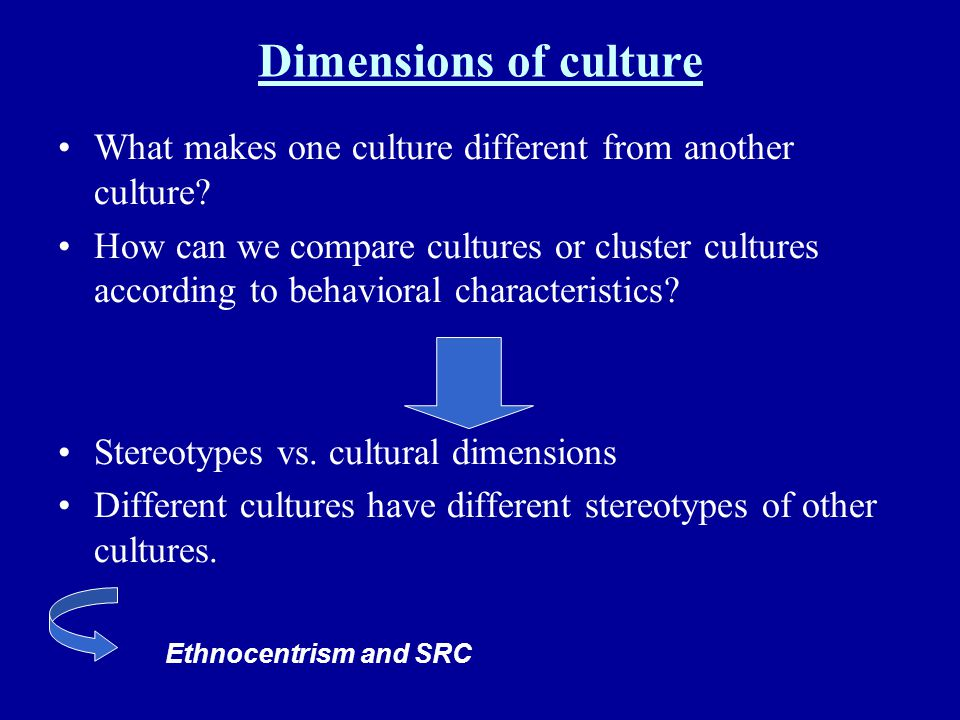 Dimensions of culture What makes one culture different from another culture