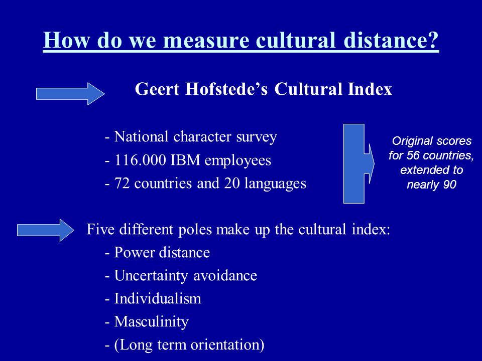 How do we measure cultural distance