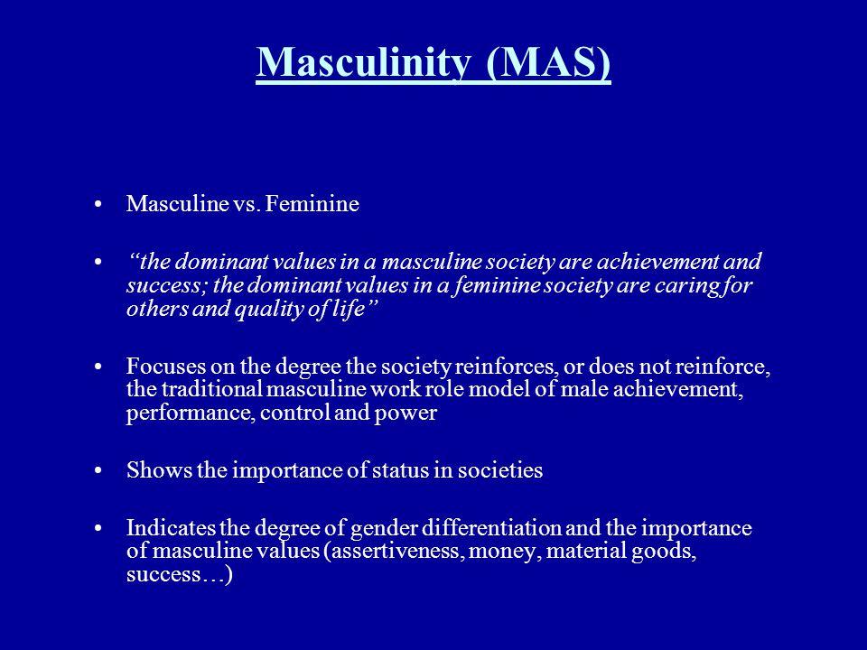Masculinity (MAS) Masculine vs. Feminine