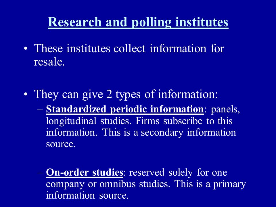 Research and polling institutes