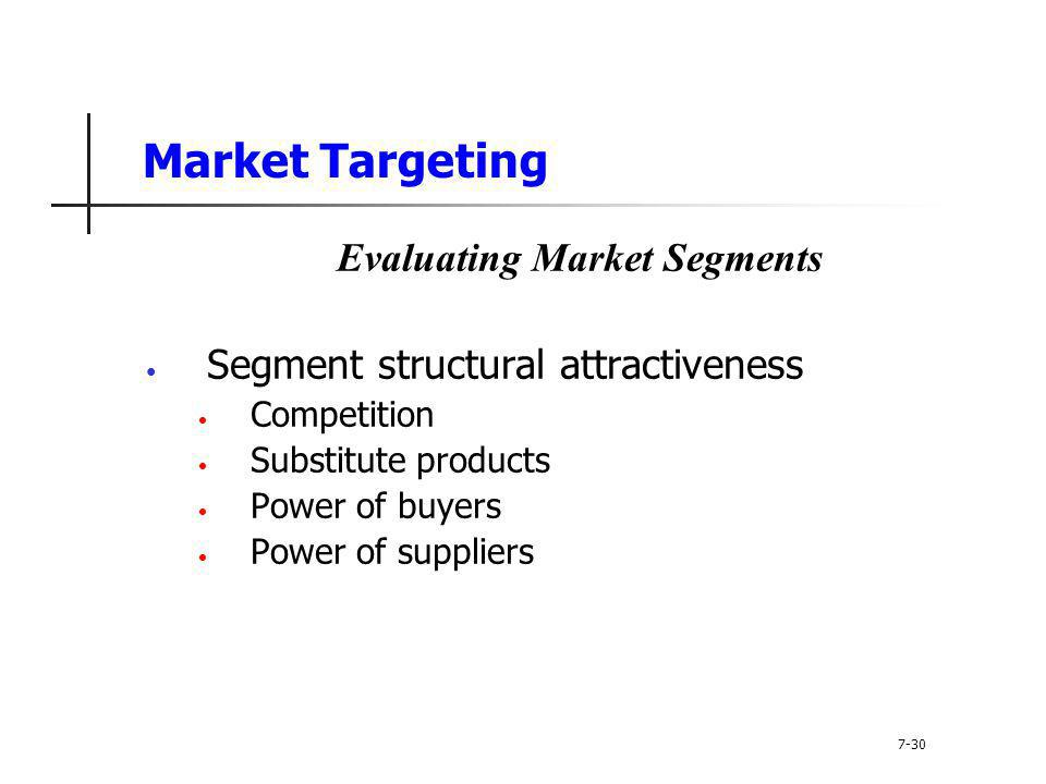 Evaluating Market Segments