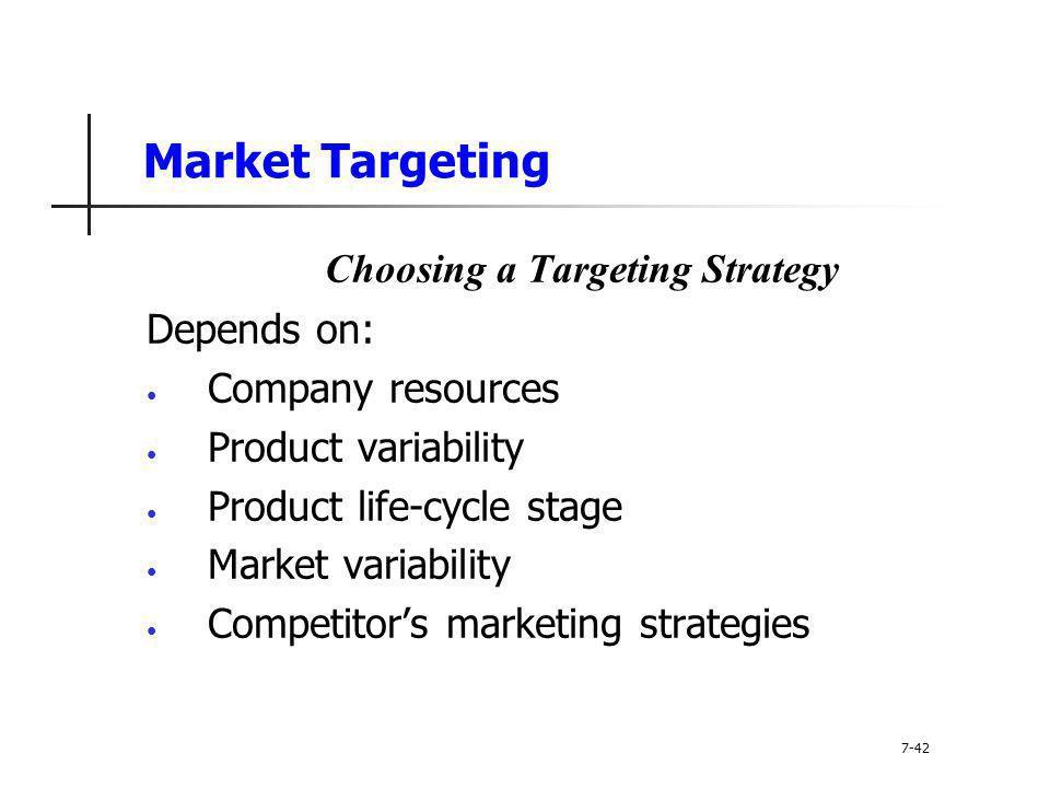 Choosing a Targeting Strategy