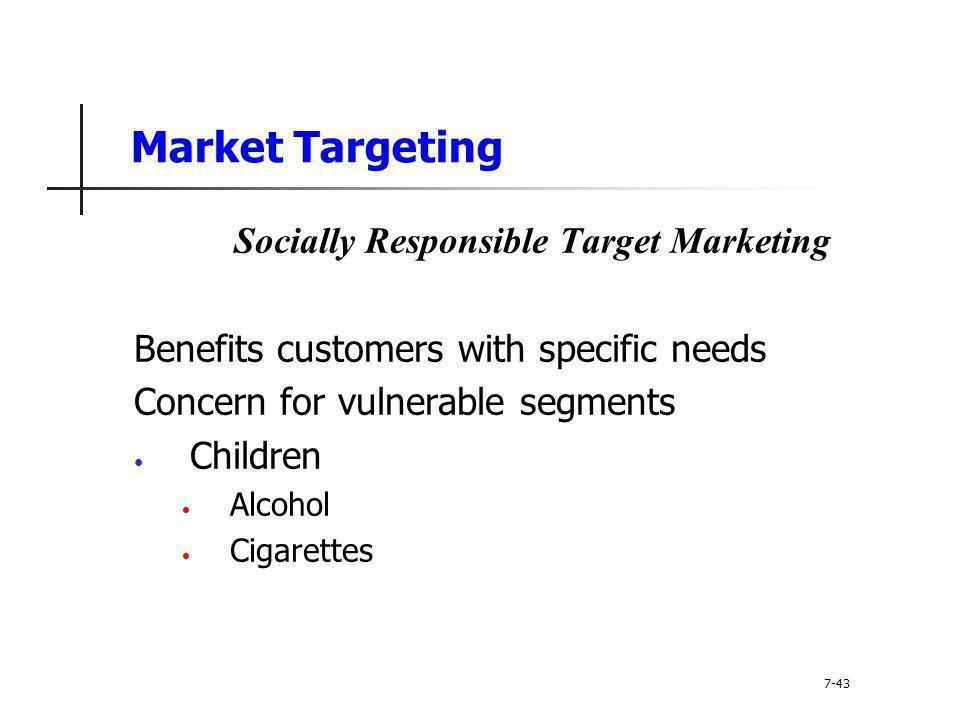Socially Responsible Target Marketing