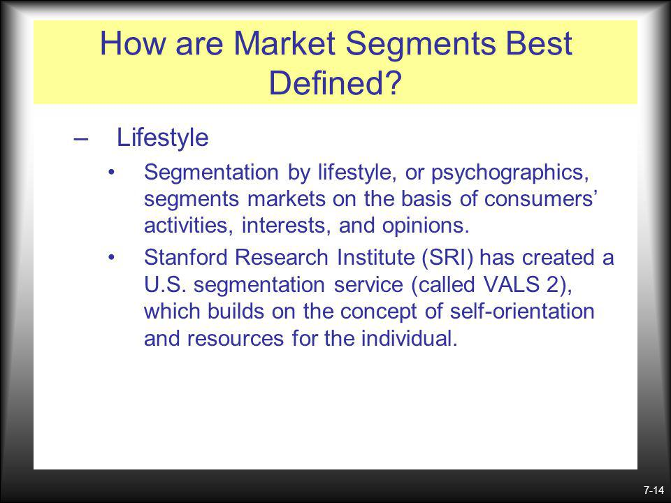 How are Market Segments Best Defined