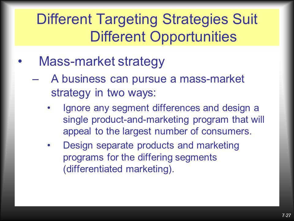 Different Targeting Strategies Suit Different Opportunities