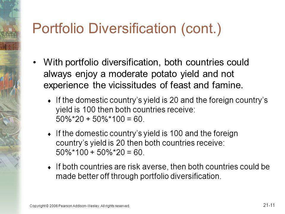 Portfolio Diversification (cont.)