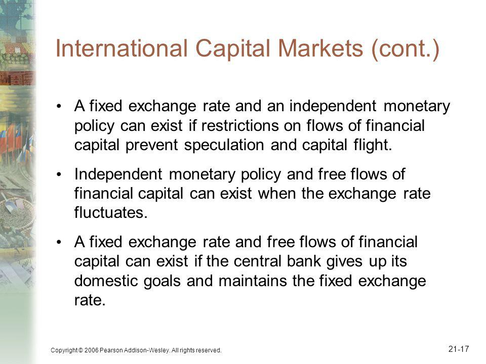 International Capital Markets (cont.)