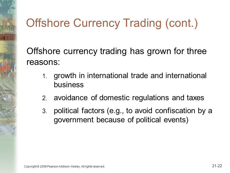 Offshore Currency Trading (cont.)