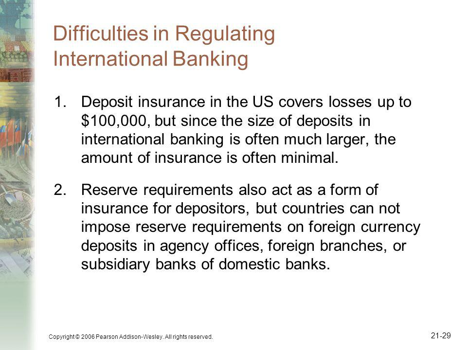 Difficulties in Regulating International Banking